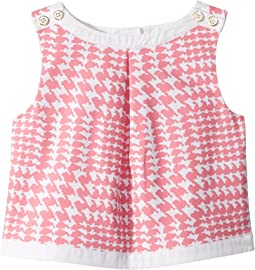Sleeveless Houndstooth Top (Toddler/Little Kids/Big Kids)