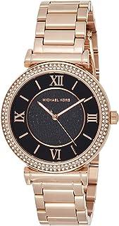 Michael Kors Womens Quartz Watch, Analog Display and Stainless Steel Strap MK3356