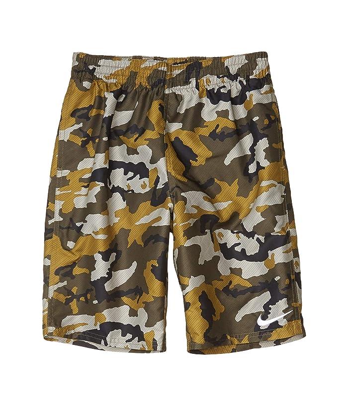 Nike Kids  8 Camo Volley Shorts (Little Kids/Big Kids) (Medium Olive) Boys Swimwear
