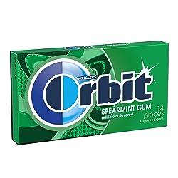 Orbit Gum, Sugar Free, Spearmint, 14-ct