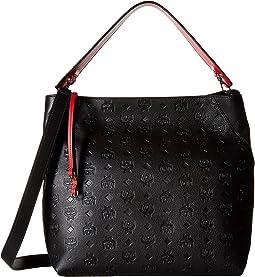 MCM - Klara Monogrammed Leather Large Hobo