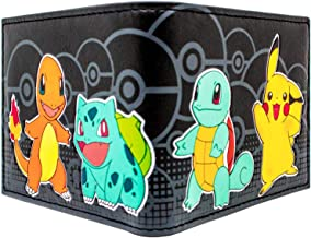 Nintendo Pokemon Charmander Starters Black ID & Card Bi-Fold Wallet