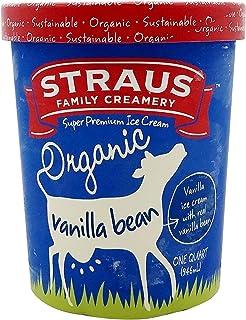 Straus Family Creamery Organic Vanilla Bean Ice Cream, 32 Oz (frozen)