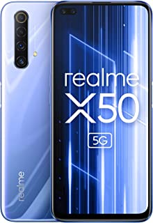 "realme X50 5G - Smartphone de 6.57"", 6 GB RAM + 128 GB ROM, Procesador Snapdragon 765G Platform, cuádruple cámara AI de 48MP, Dual SIM, Ice Silver"