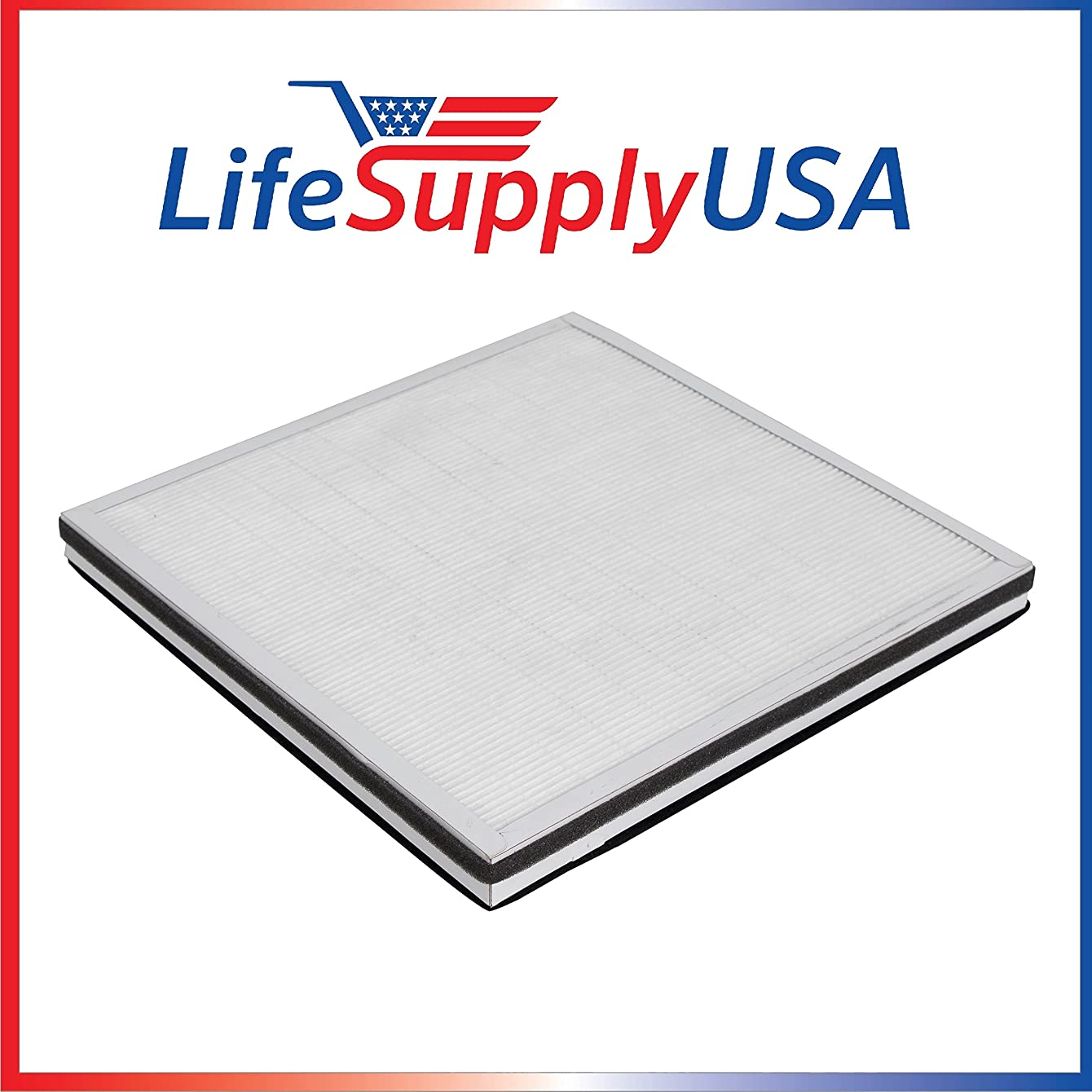 LifeSupplyUSA Replacement Filter for Surround Air MT-8500SF 3 in 1, HEPA, Carbon and Pre-Filter