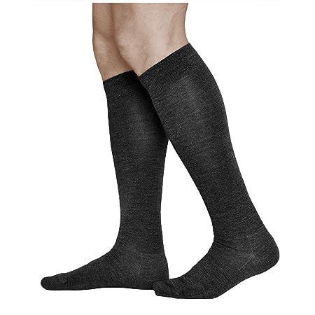 VITSOCKS Men's 80% MERINO Wool Long Leg Knee High Winter Socks, Warm Breathable