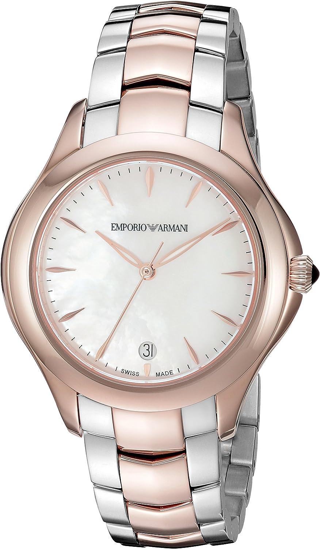 Emporio Armani Swiss Reloj analógico para Mujer de con Correa en Acero Inoxidable ARS8503