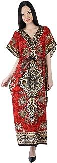 Crocon Women Long Maxi Cover Up Gamla Print Kaftan Beach Maxi Dress African Caftan Women Plus Size Swimwear