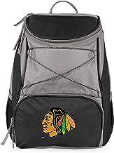 مبرد حقيبة ظهر معزول من فريق شيكاغو بلاكهوكس بدوري الهوكي الوطني باللون الأسود