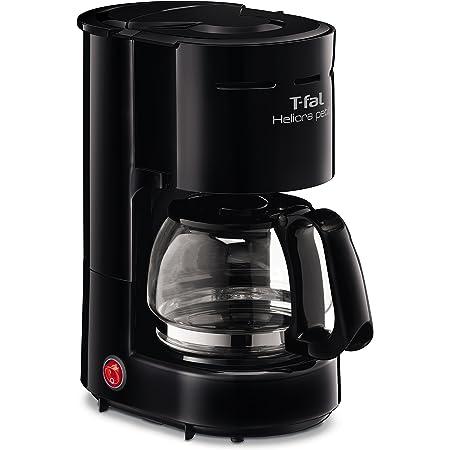 T-fal CM3218MXA Cafetera de Filtro Heliora Petite, con switch de encendido y apagado, sistema antogoteo, y jarra de vidrio con capacidad para 4 tazas de café y porta filtros