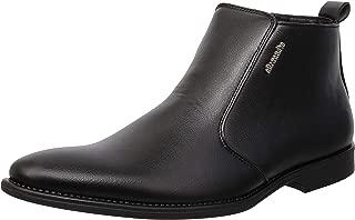 Allexandro Men's Formal Zip up Ankle Dress Boots
