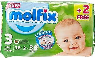 Molfix Anti Leakage Comfortable Midi Baby Diapers, 4-9 kg, 38 Count (5047415)
