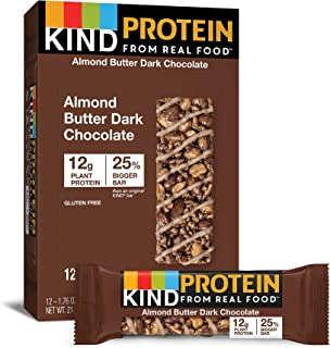 KIND Protein Bars, Almond Butter Dark Chocolate, Gluten Free, 12g Protein