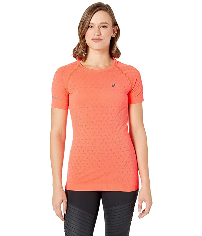 ASICS Short Sleeve GEL-Cool Top (Flash Coral) Women