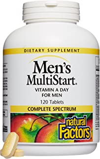 Natural Factors, Men's MultiStart Daily Multivitamin, Nutritional Support for Immune Health and Energy, 120 tablets (60 se...