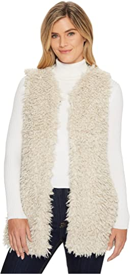 Dylan by True Grit - Adrija Pile Soft Cozy Vest with Side Pockets and Knit Lining