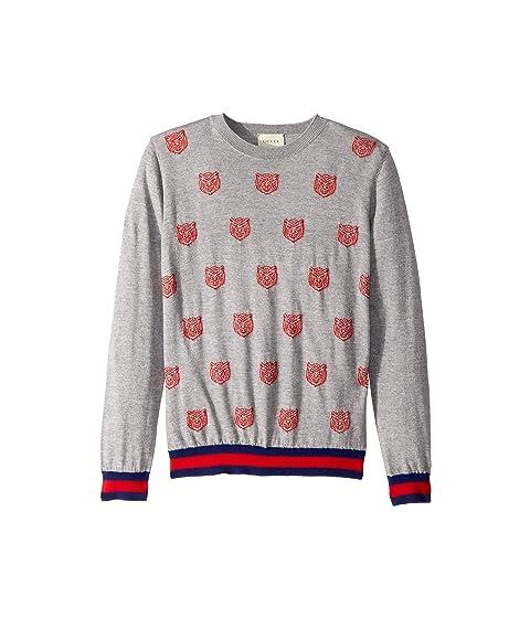 Gucci Kids Tiger Knit Merino Sweater (Little Kids/Big Kids)