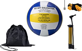 TopFan Personalized Custom Volleyball- Dad to Daughter - Mom to Daughter Graduation Birthday Wedding Christmas