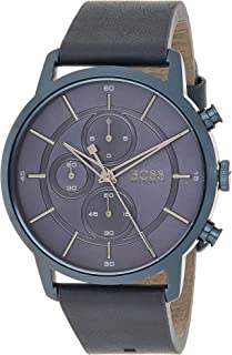 Hugo Boss Unisex-Adult Quartz Watch, Chronograph Display and Leather Strap 1513575