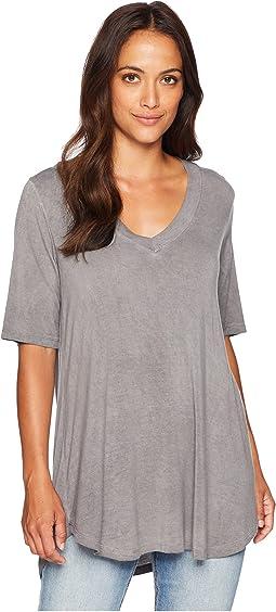 Ally V-Neck Short Sleeve Top