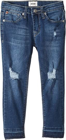 Five-Pocket Ankle Skinny w/ Release Hem in Vintage Blue Wash (Toddler/Little Kids)