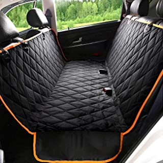 Kytely Upgraded Dog Car Seat Cover Waterproof Pet Seat Cover for Back Seat, Scratch Proof & Nonslip Backing & Hammock, 600D Heavy Duty Dog Seat Cover for Cars, Trucks and Suvs
