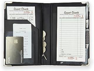 Brinero Professional Server Book, Better Zipper Pocket, Smooth Clean Cover, Firmer Writing Service, Restaurant Server Books Organizer for Waitress or Waiter