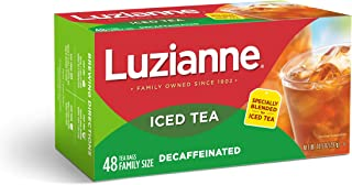 Luzianne Decaffeinated Tea, Specially Blended for Iced Tea, 48 Count
