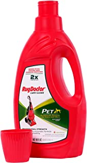 Rug Doctor Pet Formula Carpet Cleaner (40 oz.); Super Concentrated Pro-Enzymatic Formula with Blue Wave Scent Removes Pet Stains, Odor and Deters Remarking; Works in All Leading Deep Cleaning Machines