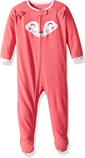 Baby Girls' Toddler 1 Piece Fleece Sleepwear