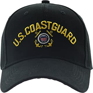 Black US Coast Guard USCG Logo Baseball Cap Hat with Official Pin