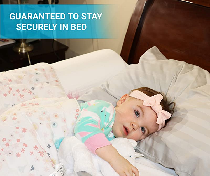 Toddler Bed Rail Bumper Foam Bed Edge For Toddlers Premium Kids Bed Bumper Bed Edge Safety Guard Bunk Rail For Kids Baby Bumper Comfortable Durable Waterproof Washable Cover Included