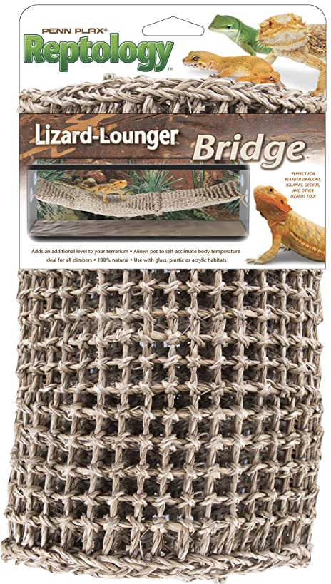 Penn Plax Reptology Lizard Lounger Bridge for Bearded Dragons, Iguanas, and Other Reptiles