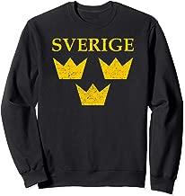 Sweden Three Crowns Sverige Tre Kronor  Sweatshirt