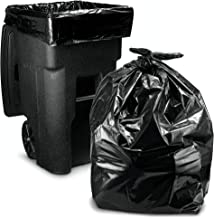 """95-96 Gallon Garbage Can Liners │25 Count w/Ties│ Black Heavy Duty Trash Bags │ 61"""" X 68"""""""