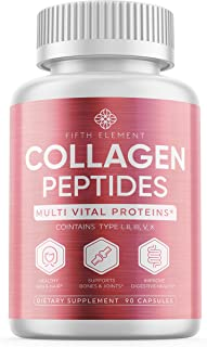 Collagen Peptides Collagen Pills - Anti-Aging, Healthy Hair, Skin & Nails - Multi Collagen Supplements Powder Capsules (Type I, II, III, V, X) - Hydrolysate, Hydrolyzed Marine Super