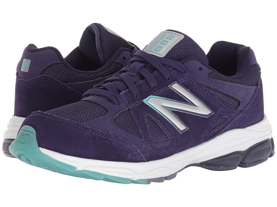 New Balance Kids KJ888v1G (Big Kid) (Blue/Rainbow) Girls Shoes