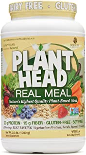 Genceutic Natural's Plant Head Real Meal Dietary Supplement | Supports a Healthy Lifestyle | Vegan, Gluten-Free, & Lactose...
