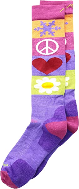 Darn Tough Vermont - Peace Love Snow Cushion Socks (Toddler/Little Kid/Big Kid)