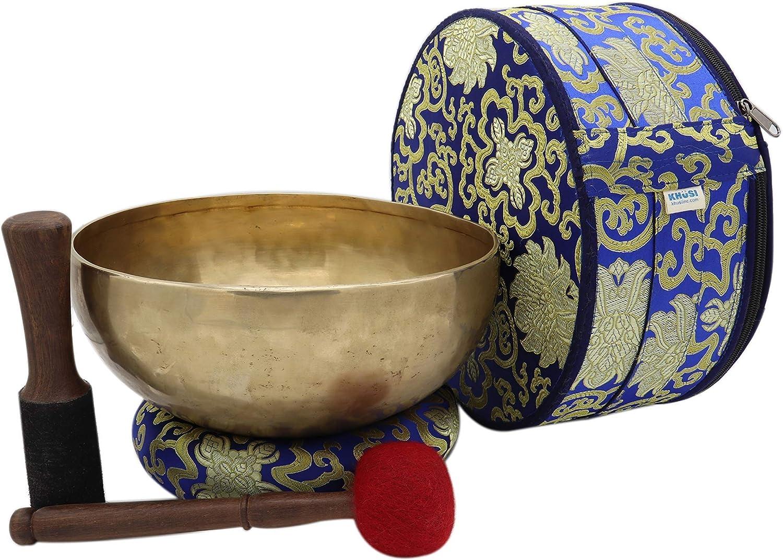 "KHÜSI INC~ 10"" Antique bow New item Tibetan Las Vegas Mall Singing Hand-hammered"