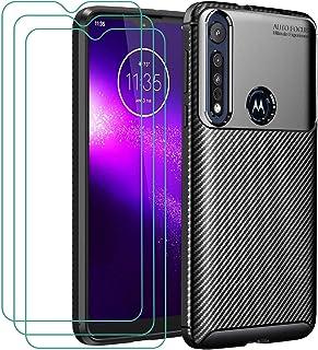 iVoler Hoesje Compatibel met Motorola Moto G8 Play/Motorola Moto One Macro + 3-pack Screen Protector Beschermfolie van Geh...