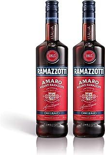 Ramazzotti Amaro Kräuterlikör 2er Set, Schnaps, Spirituose, Italienischer Likör, Alkohol, Flasche, 30%, 2x1 L