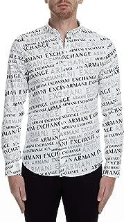 A|X Armani Exchange Men's Long Sleeve Button Down Shirt with Collar, Extreme Logo, XL