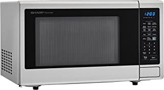 """Sharp SMC1842CS 24"""" Countertop Microwave with 1.8 cu. ft. Capacity, 1100 Watts, 15"""" Turntable, Softening Function Blue LED..."""