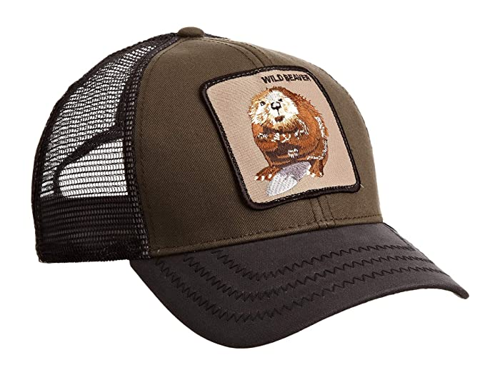 Goorin Brothers  Animal Farm Snap Back Trucker Hat (Olive Wild Beaver) Caps