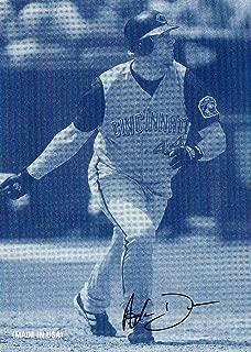 2004 Leaf Exhibits Stat Back #1 Adam Dunn Signature