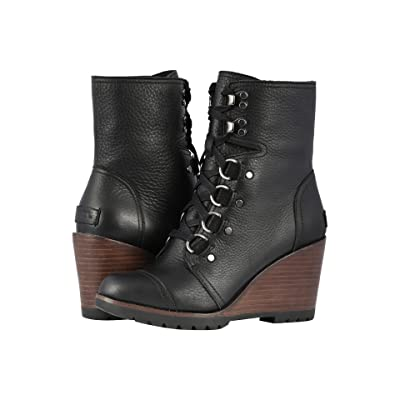 SOREL After Hourstm Lace (Black Full Grain Leather) Women