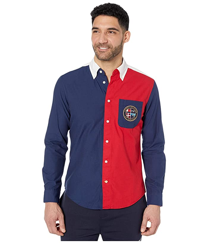 Tommy Hilfiger Adaptive  Rick Pieced Long Sleeve (Multi) Mens Clothing