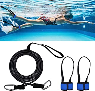 viewm Swim Tether Swimming Training Belt Leash Resistance Tether,Adjustable Rope Length Belts, with A Storage Bag
