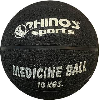 Rhinos Sports–Balón medicinal, pelota 10kg, Negro